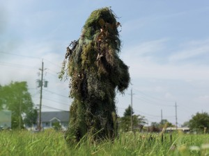 Forms of Awareness: Ghillie Suit: Un-camouflaging (2012: photograph 22in x 30in)